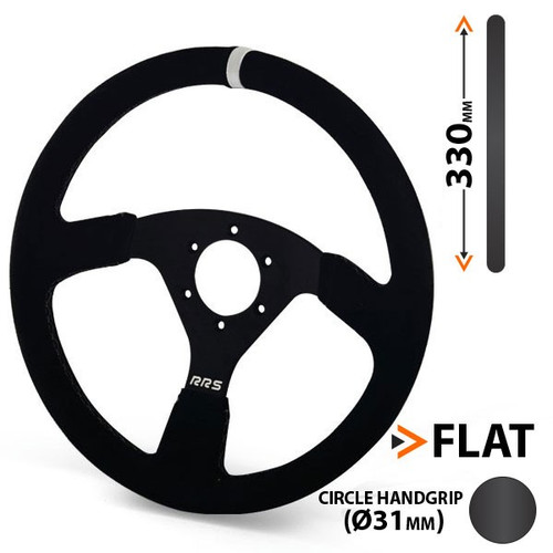 RRS Traject 330mm Flat Suede Steering Wheel - EARS Motorsports. Official stockists for RRS-1026046018