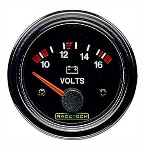 Racetech Voltmeter Gauge 10-16v - EARS Motorsports. Official stockists for Racetech-RTEVM
