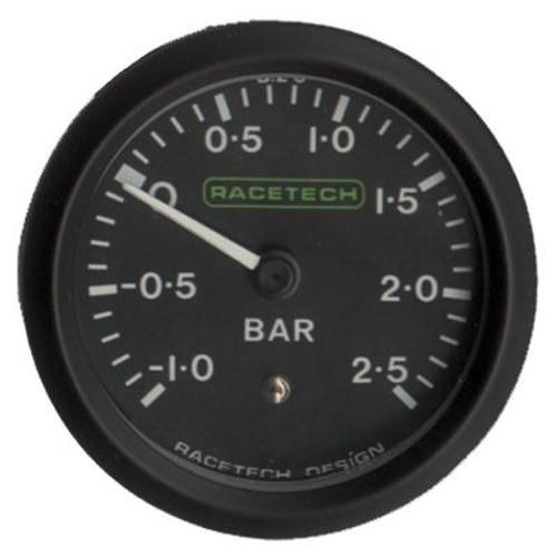 Racetech Boost Pressure Gauge -1 to +2.5bar
