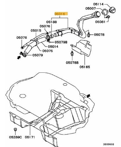 Mitsubishi Evo 4-6 Fuel Filler Pipe