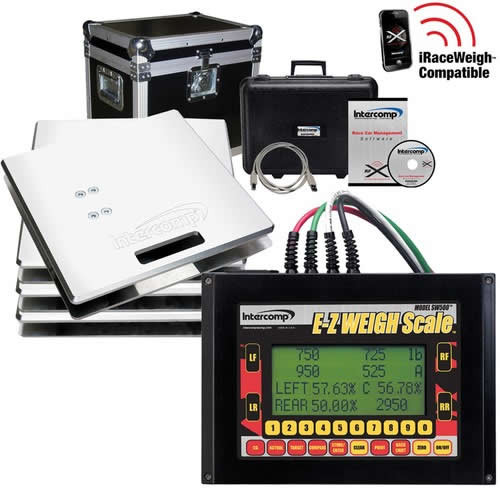 Intercomp E-Z Weigh Deluxe Cabled Scale System - EARS Motorsports. Official stockists for Intercomp-170124