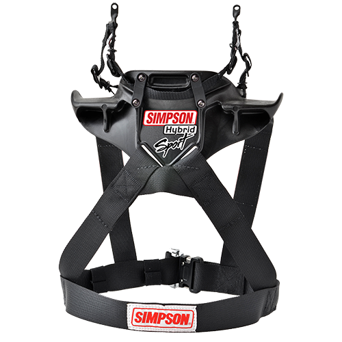 Simpson Hybrid Sport Frontal Head Restraint - EARS Motorsports. Official stockists for Simpson-HS.xxx.11.xx.FIA