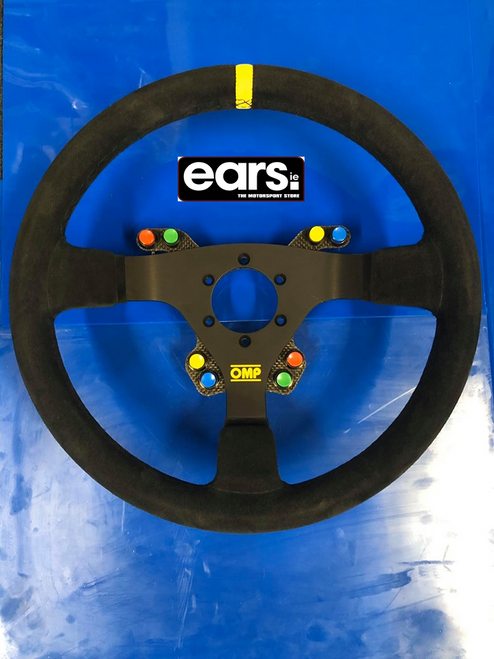 Carbon switch panel fitted to OMP WRC Steering Wheel