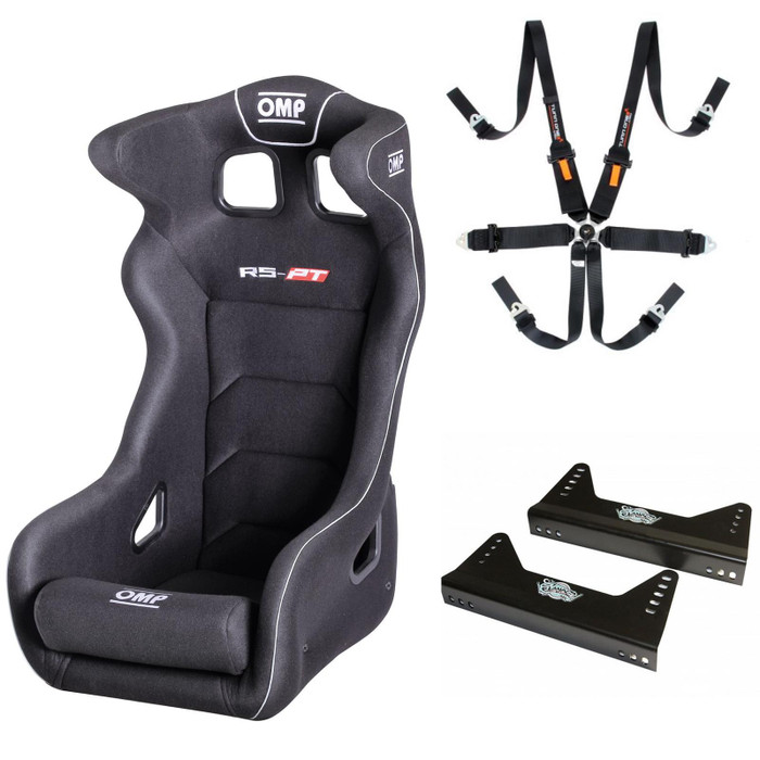 OMP RSPT 2 Seat, Harness & Bracket FIA Approved Package
