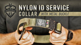 Ray Allen Nylon Service Collar with Metal Buckle - Lightweight Dog Collar