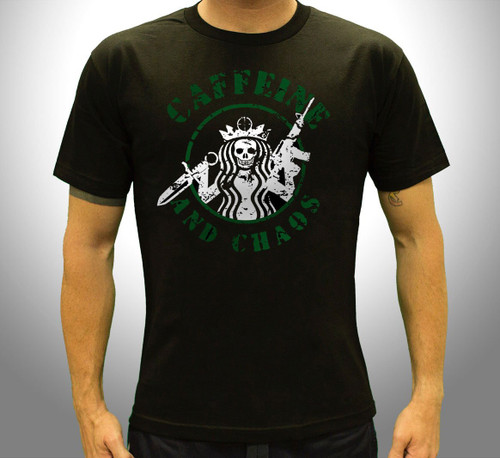 Caffeine and Chaos T-Shirt