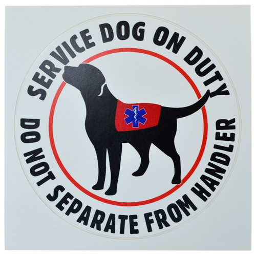 Service Dog On Duty Decal/Cling