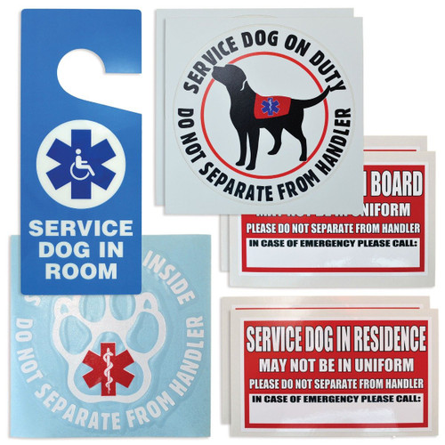 Service Dog Decal & Cling Kit