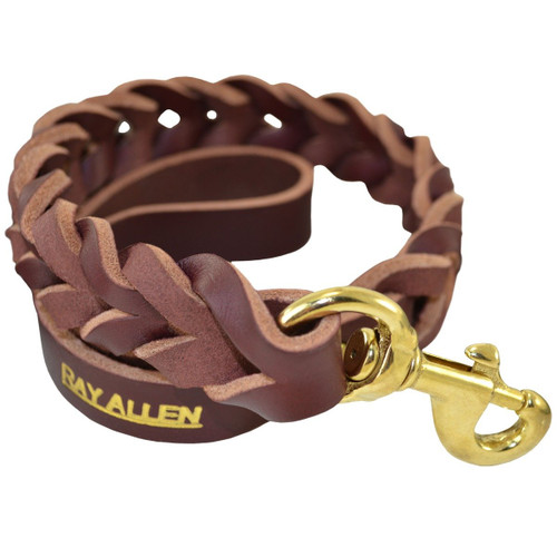 Latigo Leather Braided Traffic Lead