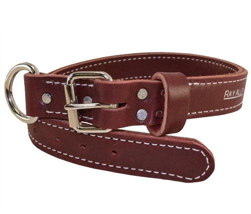 Latigo Leather Agitation Dog Collar