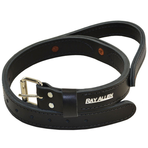 Tac-Black Leather Agitation Collar With Handle