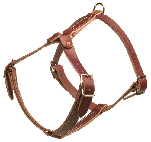 Latigo Leather Non-Padded Tracking Harness
