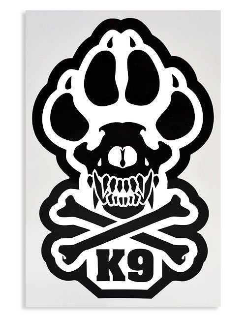 K9 Paw Decal