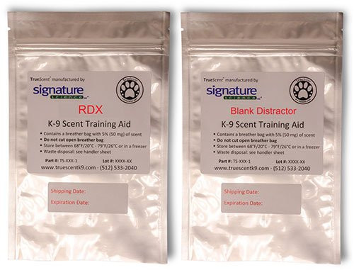 TrueScent Explosives K-9 Scent Training Aids by Signature Science