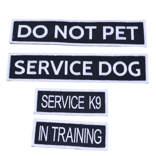 Embroidered Service Dog Patches