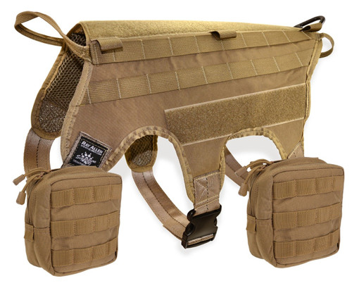 Ultimate Combo Coyote Harness with 5.11 Pouch Kit