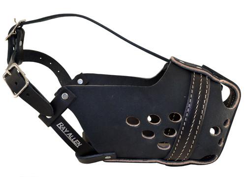 Original RAM Black Leather Agitation Muzzle
