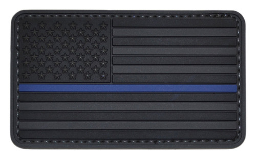 Tru-Spec Thin Blue Line on Black US Flag Patch