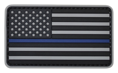 Tru-Spec Thin Blue Line on Gray US Flag Patch
