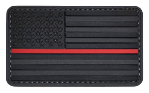 Tru-Spec Thin Red Line on Black US Flag Patch