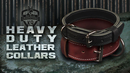 Latigo and Mil-Spec Leather Collars- Quality Collars for Military and Working Dogs