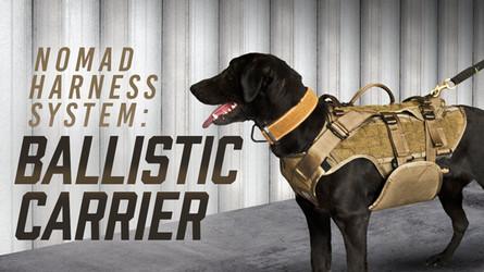Nomad Ballistic Carrier Dog Vest   Interchangeable Dog Harness System