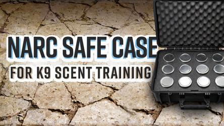 NARC Safe: K9 Scentwork 12 Jar Storage And Transport Case