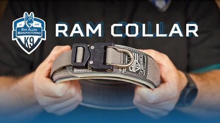 The RAM K9 Collar- Leather/Nylon Agitation and Training Collar