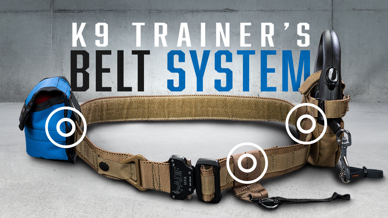 The Complete K9 Trainer's Belt System