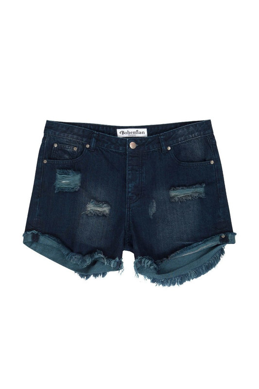 Dark Blue Denim Short