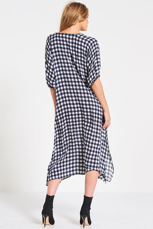 Gypsy Dress in Slate Gingham