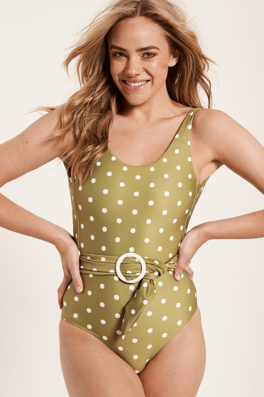 Opal One Piece in Chartreuse Spot