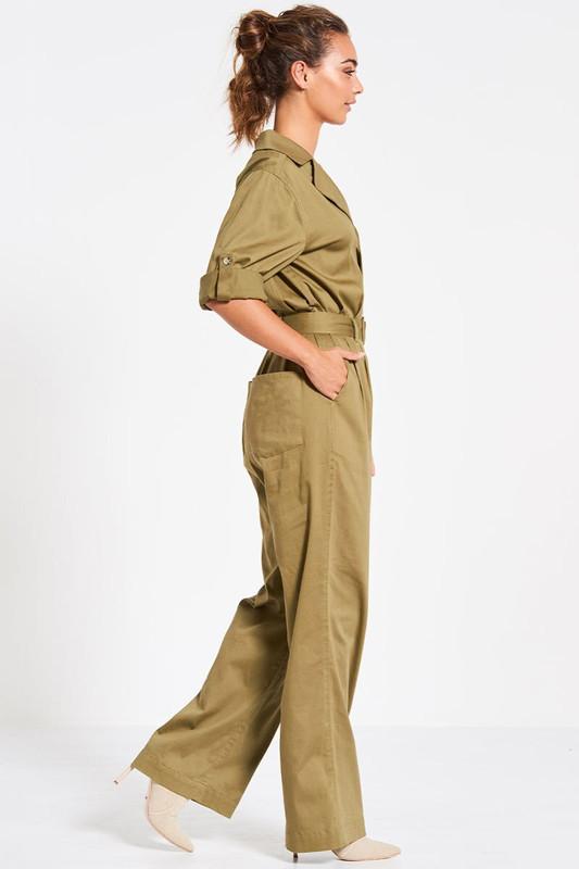 Tailored Boiler Suit in Khaki