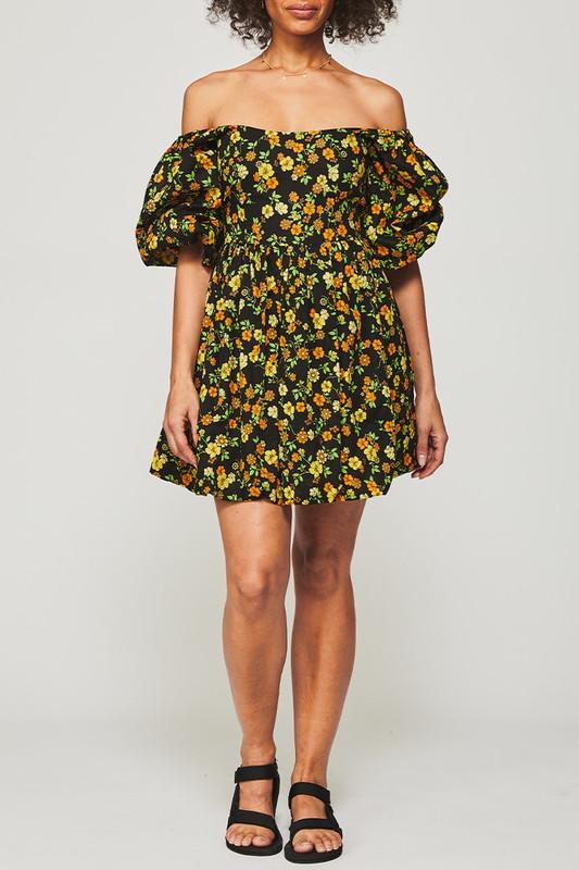 Carrie Mini Dress in Disco Meadow