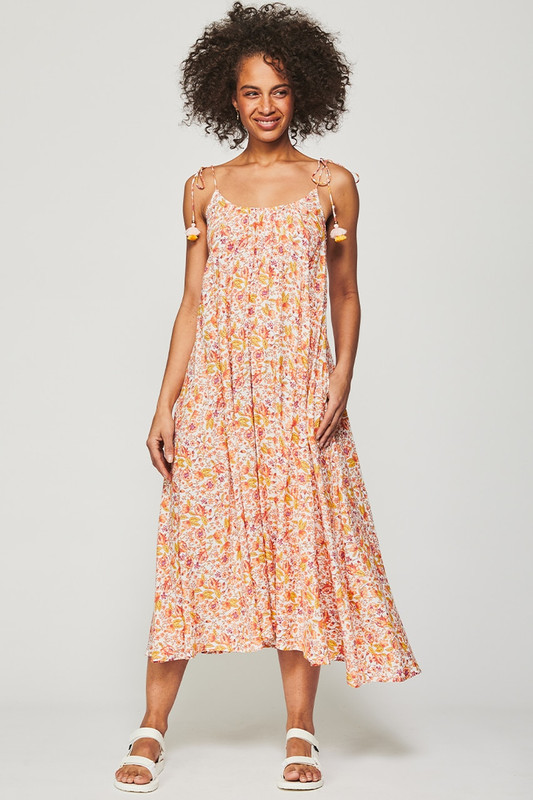Low Back Maxi Dress in Dreamscape