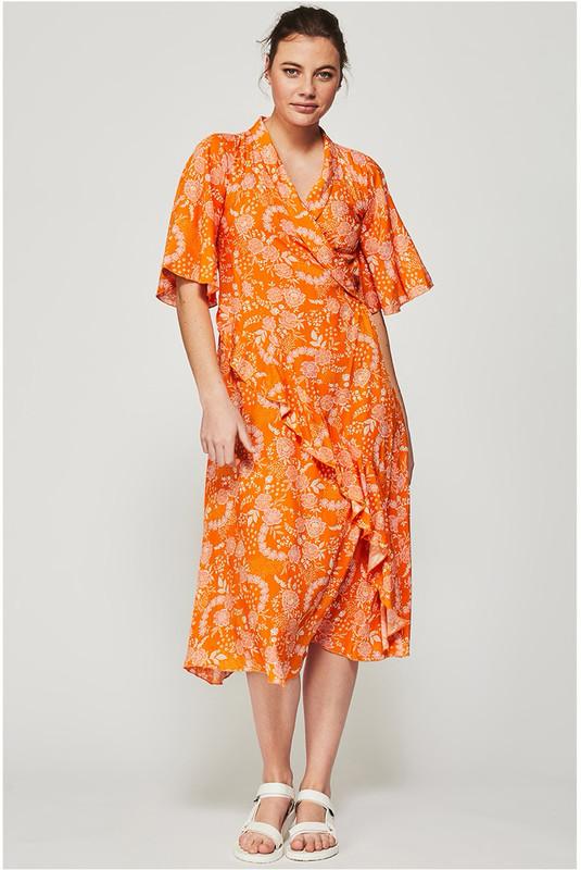 Dolce Dress in Tangerine Dream