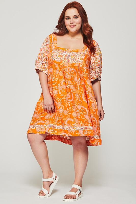 Prairie Dress in Tangerine Dreamscape