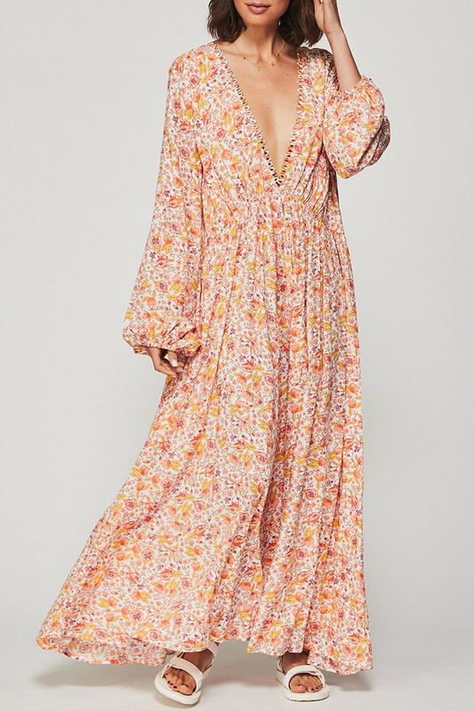 Backless Maxi Dress in Dreamscape