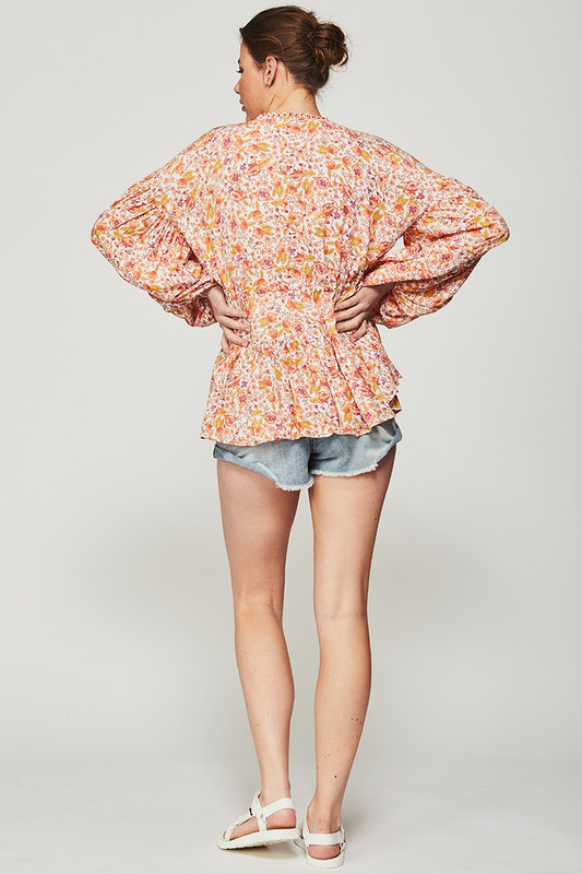 Billow Sleeve Top in Dreamscape