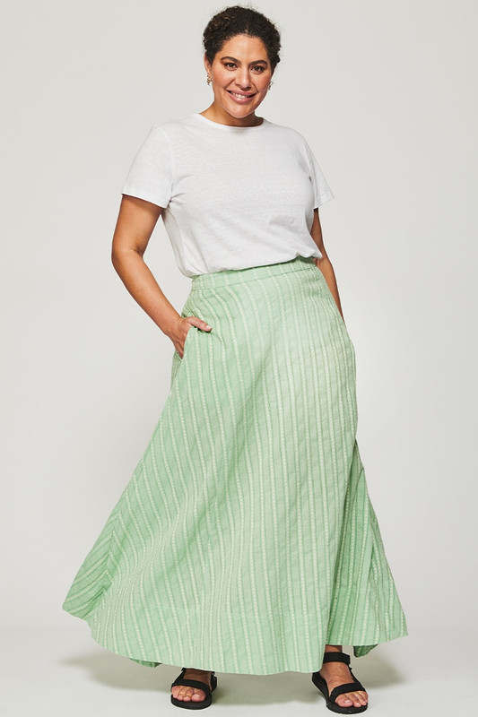 Circle Maxi Skirt in Mint