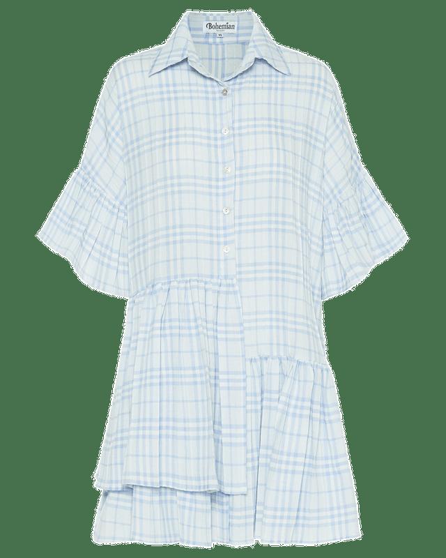 Genoa Dress in Blue Check