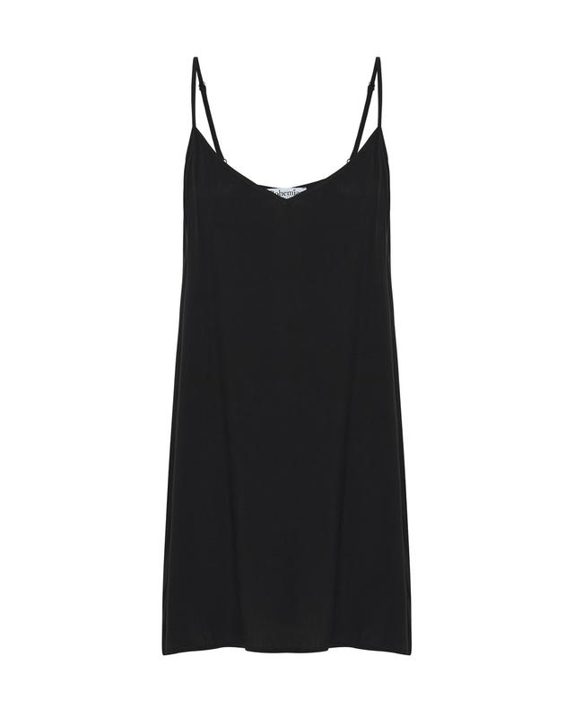 Mini Slip Dress in Black