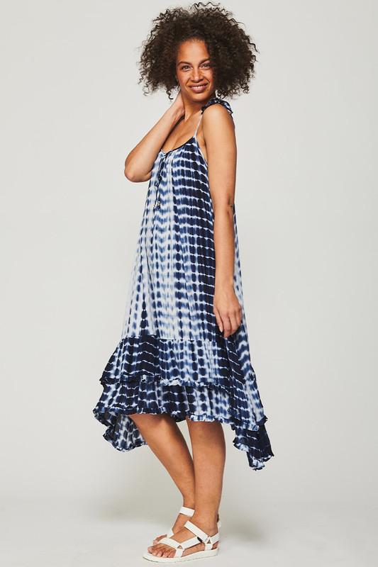 Willow Midi Dress in Ocean Tie Dye