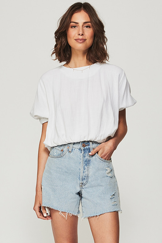 Bubble Blouse in White