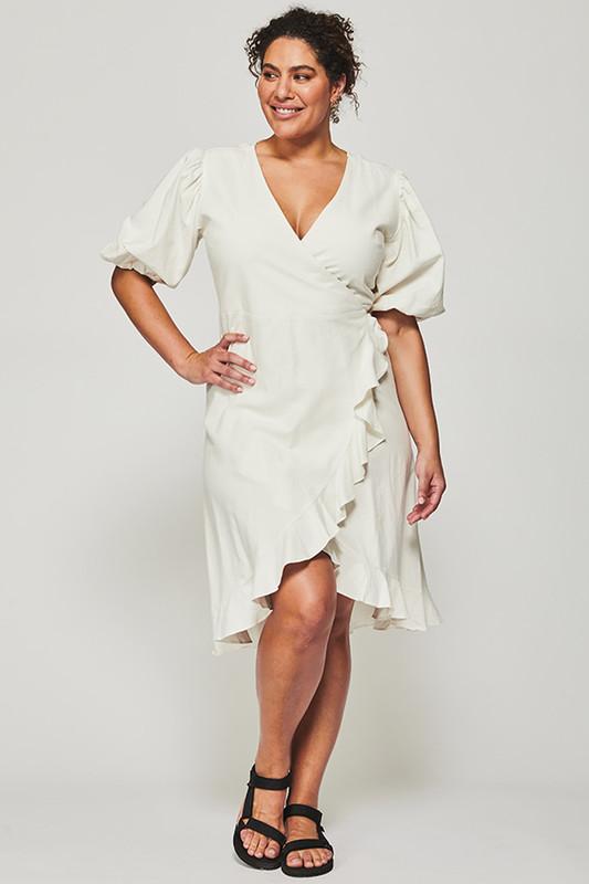 Mariana Wrap Dress in Snow