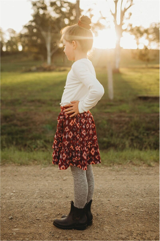 Little Ruffle Skirt in Sundancer