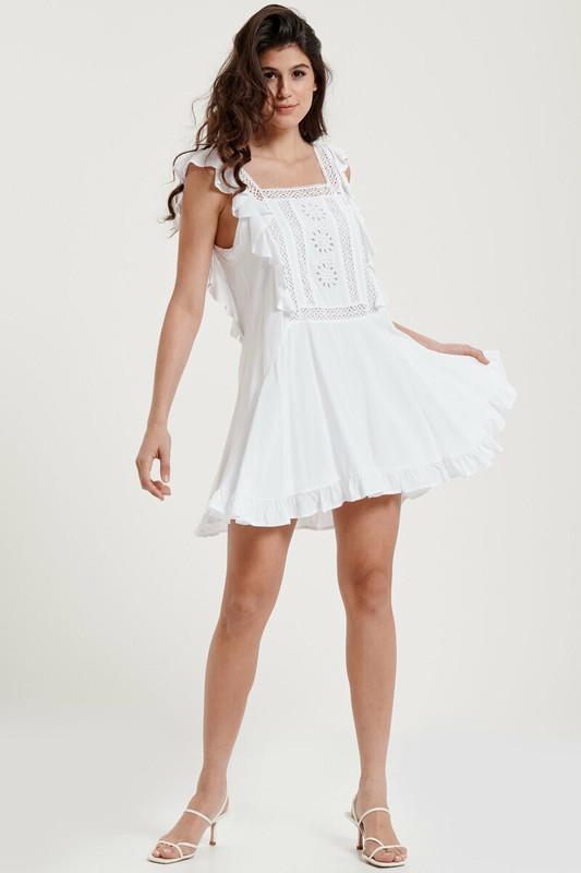 Gabriella Dress in White