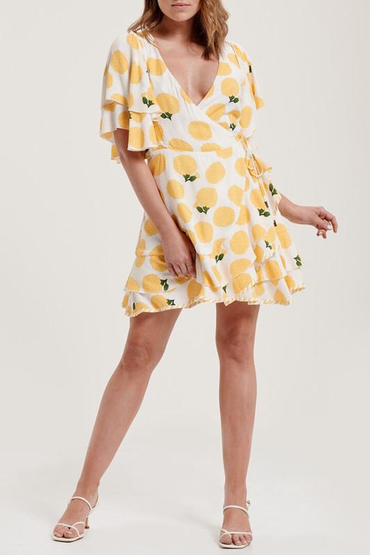 Sunday Wrap Dress in Tuscan Sun