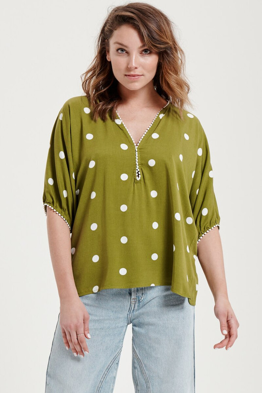 Gypsy Top in Chartreuse Spot