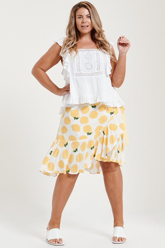 Coco Midi Wrap Skirt in Tuscan Sun